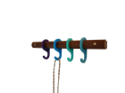 Rainbow Rack short - Walnut/Blue